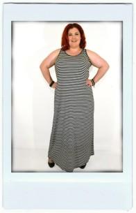 Striped jersey Maxi Dress